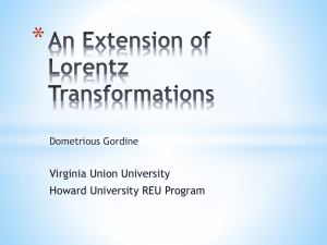 * Virginia Union University Howard University REU Program Dometrious Gordine