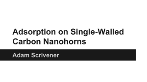 Adsorption on Single-Walled Carbon Nanohorns Adam Scrivener