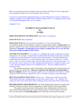 Regular No-Land Plan Cover Sheet