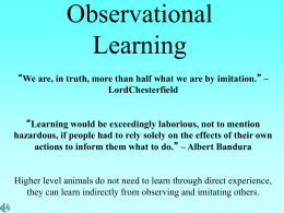 Observational Learning PPT