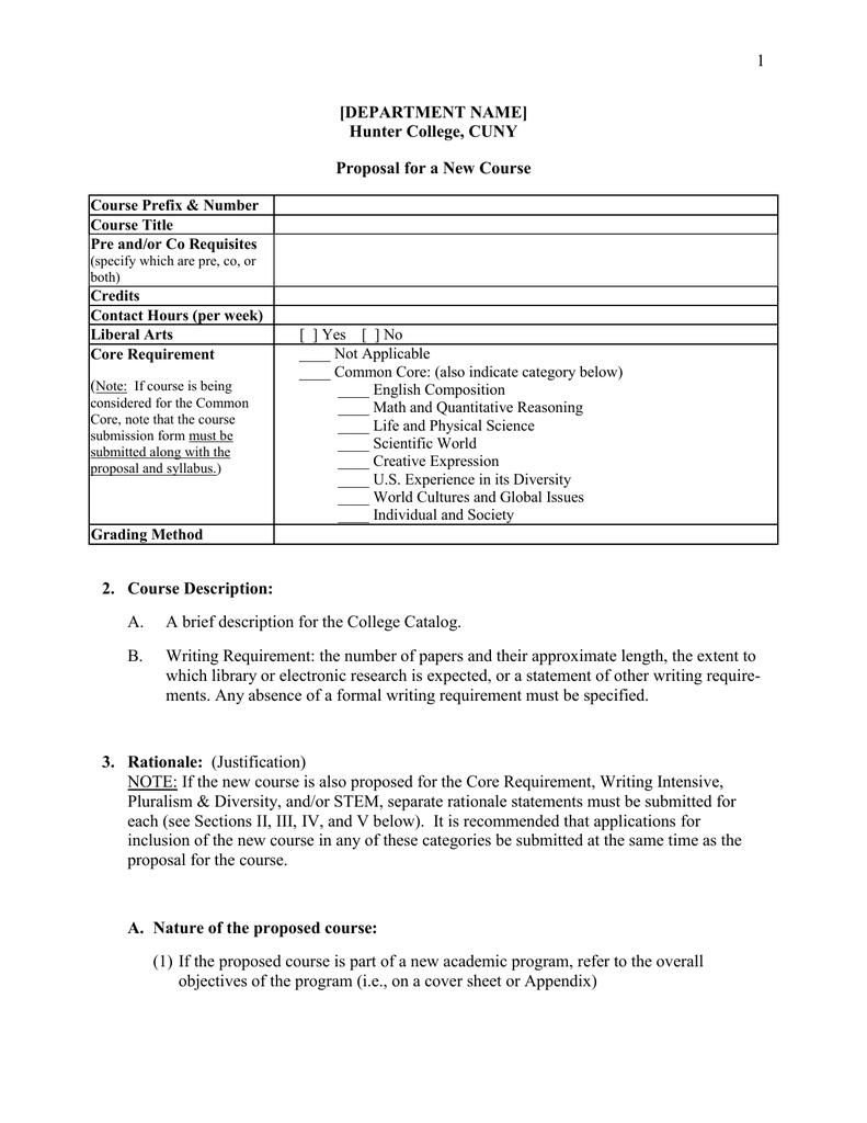 course proposal pdf
