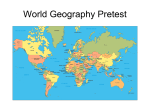 World Geography Pre-Test