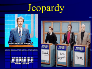 """Jeopardy"" WWII Edition-Review Game"