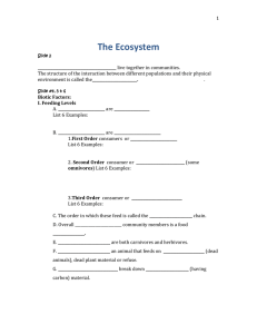 Ecosystem Notes 2