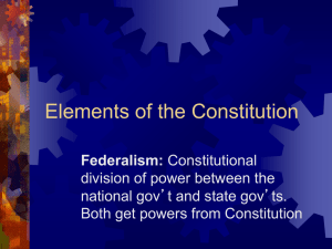 Elements of the Constitution