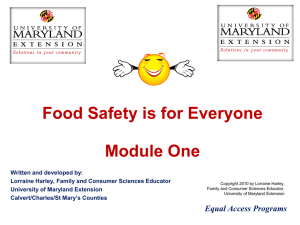 Food Safety Learning Modules