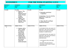ECONOMICS  FOR THE WEEK STARTING 11/5/12