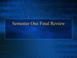 Jeopardy Semester Review P.P.