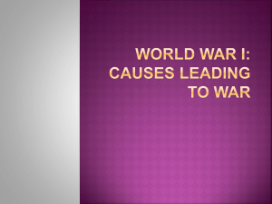 Four Causes of WWI