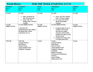 World History  FOR THE WEEK STARTING 2/17/14
