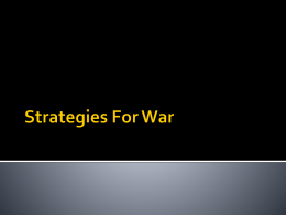 Strategies For War
