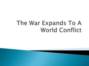 The War Expands to Global Conflict