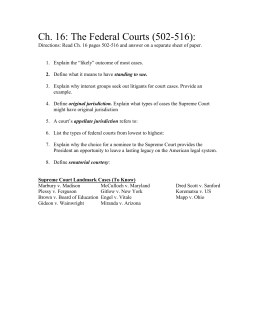 Ch. 16 Questions (pg. 502-537)