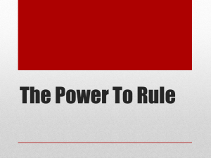 The Power To Rule