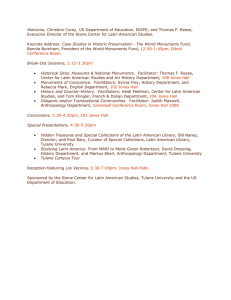 Title VIA Meeting: Cultural Heritage and Preservation Challenges in the New Millennium, March 26, 2002