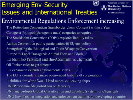 Environmental Security issues