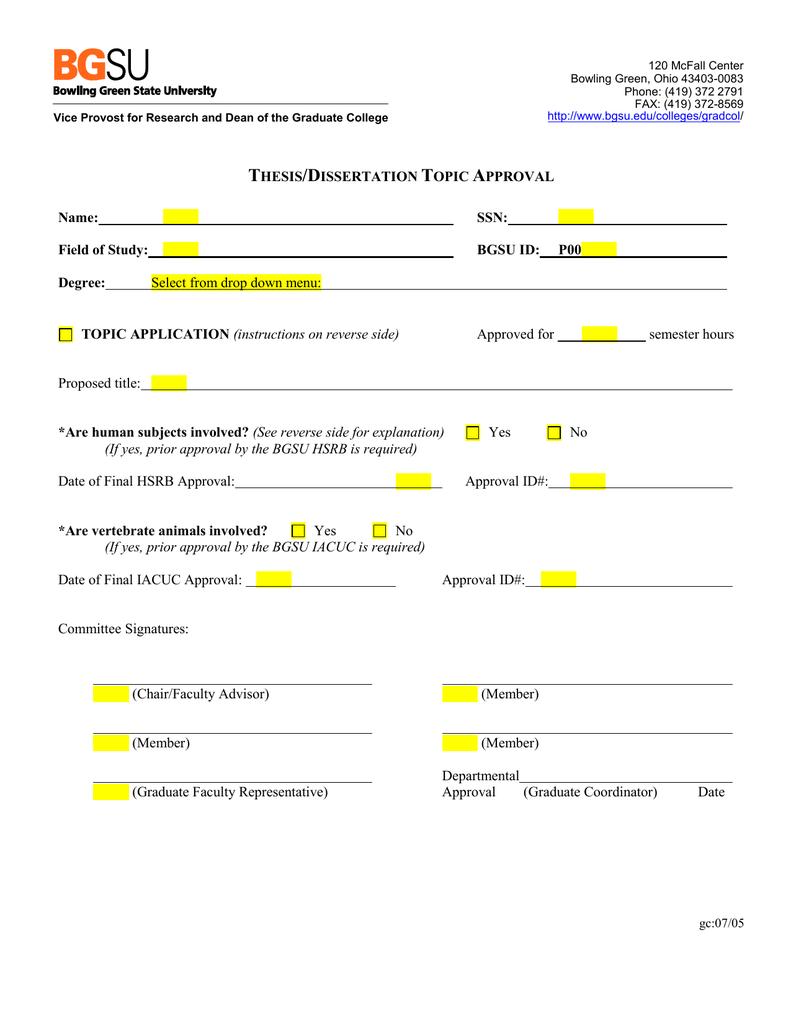 graduate college bgsu forms