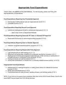 Food Approval Summary