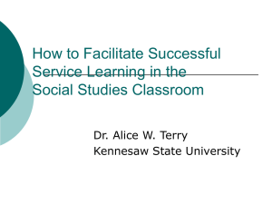 Service-Learning for the Social Studies Classroom