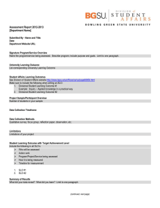 2012-2013 Signature Program Assessment Report Template