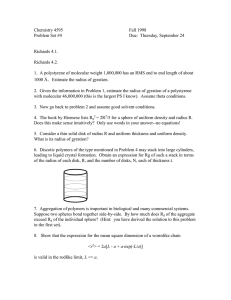 Chemistry 4595  Fall 1998 Problem Set #4