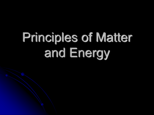 Matter and Energy PowerPoint Presentation
