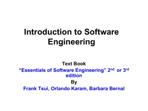 Intro to Software Engineering (Chapter 1)
