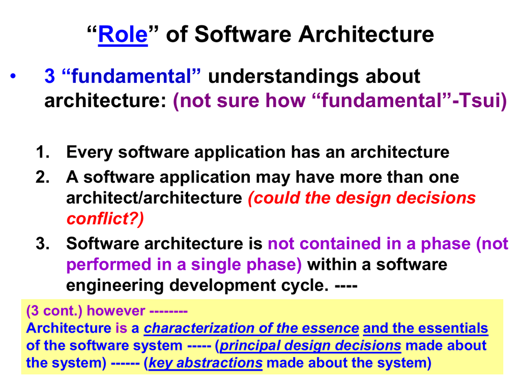 Architecture Centric Software Process Chap 2