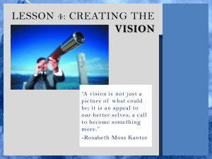 LESSON 4: CREATING THE VISION