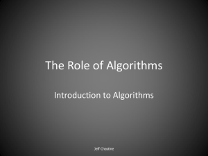 Lecture 1 -The Role of Algorithms.ppt
