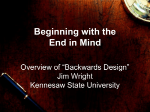 Designing with the End in Mind