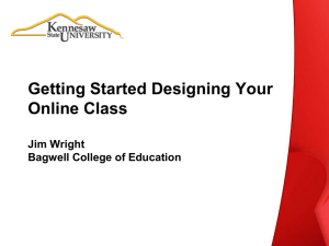 Getting Started Designing Your Online Class