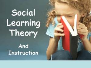Social Learning Theory and Instruction