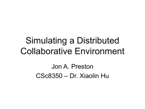 Simulating a Distributed Collaborative Environment PPT