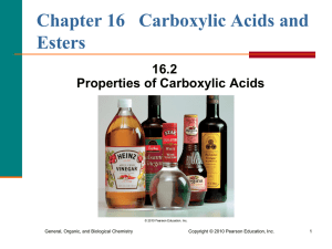 2. Properties of Carboxylic Acids