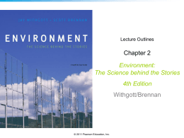 Chapter 2 Environment: The Science behind the Stories 4th Edition
