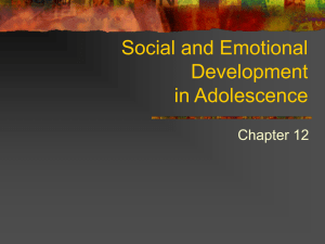 Social and Emotional Development in Teens