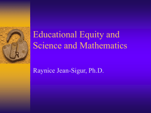 Educational Equity and Science and Mathematics