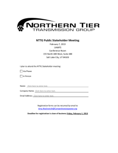 NTTG Public Stakeholder Meeting February 7, 2013 UAMPS Conference Room