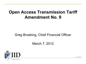 Transmission ED Rate Presentation March 7, 2012 Updated:2012-03-06 15:25 CS