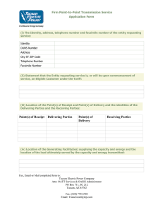 Firm Point-to-Point Transmission Service Application Form