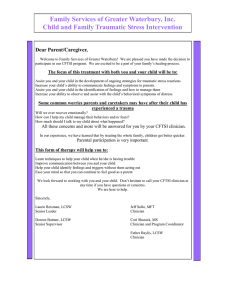 CFTSI Parent Letter - Submitted by Family Services of Greater Waterbury