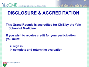 DISCLOSURE & ACCREDITATION