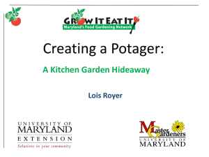 Creating a Potager: A Kitchen Garden Hideaway Lois Royer