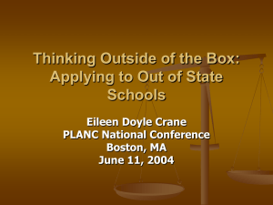 Thinking Outside of the Box: Applying to Out of State Schools