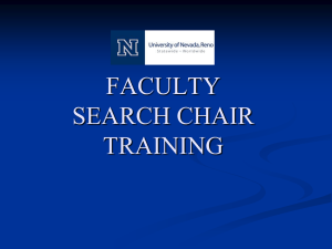 Search Chair Training Powerpoint