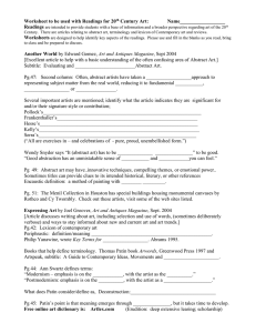 Worksheet to be used with Readings for 20 Readings