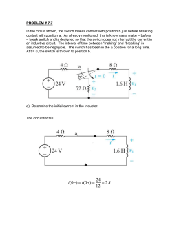 PROBLEM # 7.7  – before