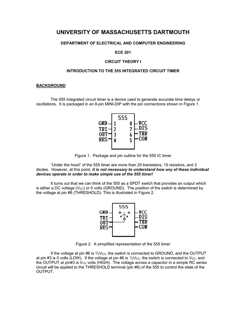 Time Delay Circuit Using A 555 Integrated Uses Power Transistor Ic