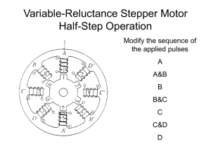Variable-Reluctance Stepper Motor Half-Step Operation Modify the sequence of the applied pulses